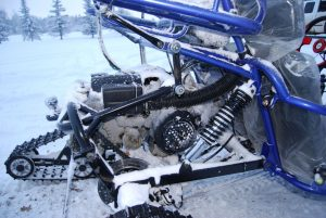 TrailMaster 150 XRX Tracks and Skis Engine Filles with Snow and Ice
