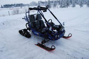 TrailMaster 150 XRX Tracks and Skis passenger Side